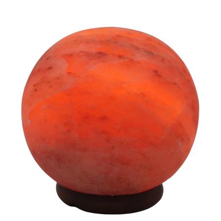 מנורת גביש מלח הימלאיה בצורת כדור