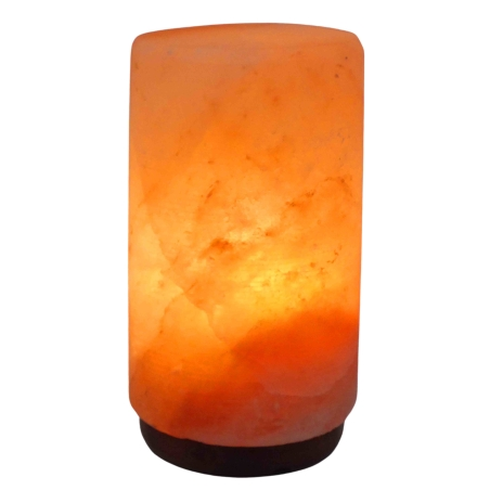 מנורת גביש מלח הימלאיה בצורת גליל