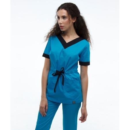 חליפת ניתוחים צבע כחול 2387