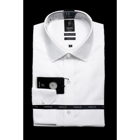 חולצה לבנה אימפרס 502 גזרה צרה ללא כיס
