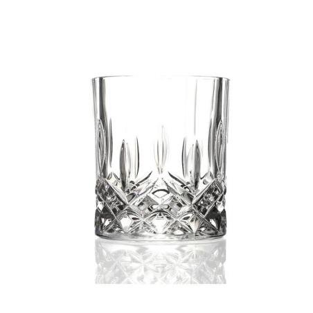 כוס וויסקי מעוטרת - קריסטל איטלקי 1 - 4 יחידות