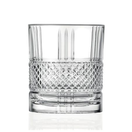 כוס וויסקי מעוטרת - קריסטל איטלקי 3 - 4 יחידות