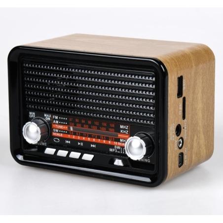 רדיו ורמקול בלוטוס רטרו