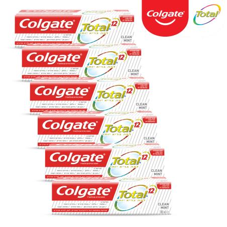 קולגייט טוטאל מארז משחות שיניים - 6 יחידות