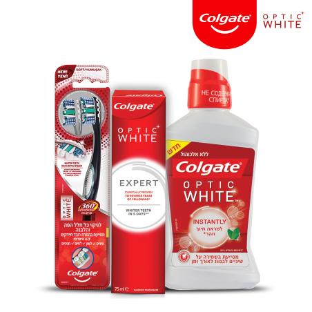 קולגייט אופטיק וויט מארז לחיוך לבן