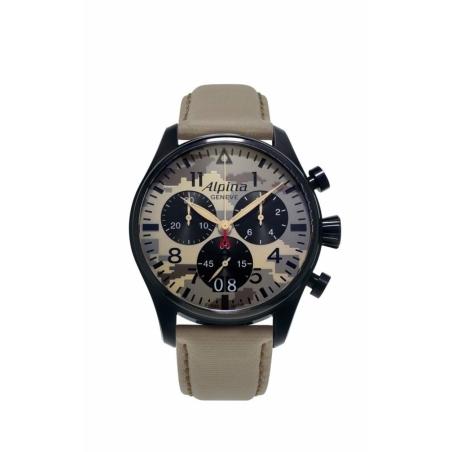 שעון Alpina Men's Startimer Pilot Big Date Chronograph Camouflage Dial