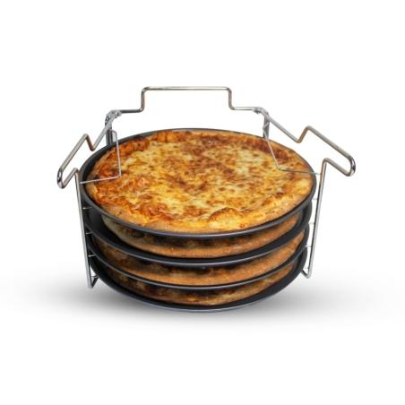 מעמד עם  4 מגשי פיצות Pizza Set