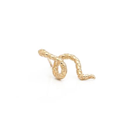 עגילי נחש - כסף 925 בציפוי זהב מיקרוני