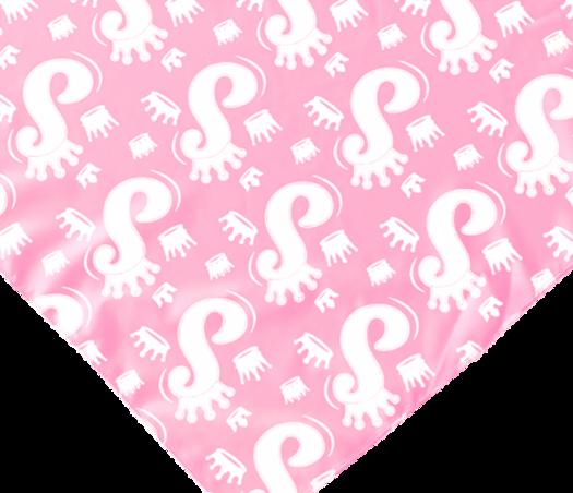 בנדנה של אלין הדפס לוגו חדש ורוד