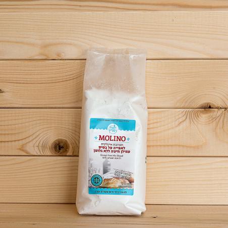 מולינו - תערובת איטלקית לאפייה ע'ב עמילן חיטה (מתאים לברכת 'המוציא לחם') ללא גלוטן