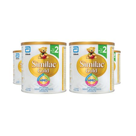 4 יחידות סימילאק GOLD שלב 2 700 גרם פותח עבור תינוקות מגיל חצי שנה ואילך