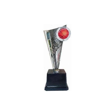 גביע חרוט כדורסל כסף/ זהב  גובה 28 ס