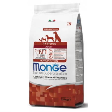 MONGE MONOPROTEIN מונג' מונופרוטאין לכלב בוגר על בסיס כבש 12 ק