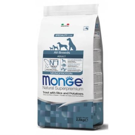 MONGE MONOPROTEIN מונג' מונופרוטאין לכלב בוגר על בסיס דג פורל 12 ק