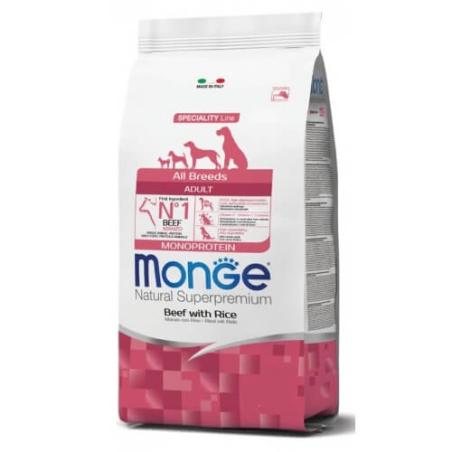 MONGE MONOPROTEIN מונג' מונופרוטאין לכלב בוגר על בסיס בקר 12 ק