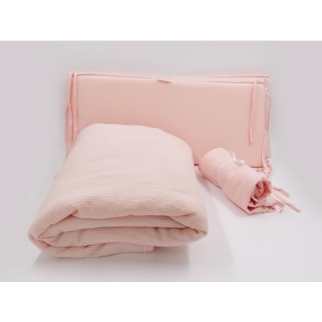 סט קיץ מלא למיטת תינוק |  וופל NEW PINK