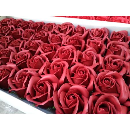 פרחים בצבע בורדו- 10 יחידות
