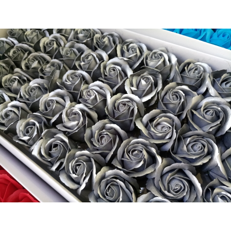 פרחים בצבע כסף- 10 יחידות