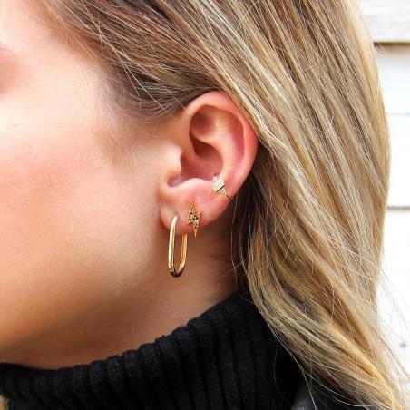 סט עגילים - SHIRLEY - כסף 925 בציפוי זהב מיקרוני