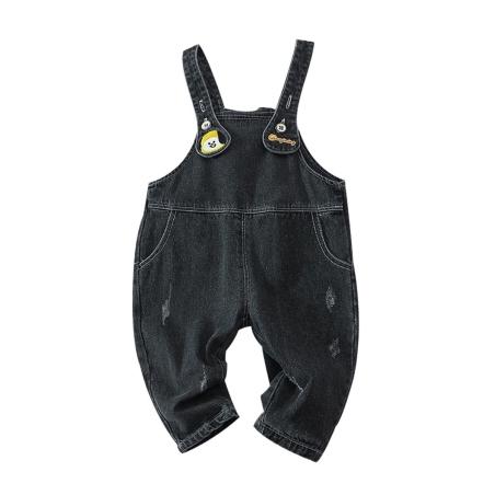 סרבל ג'ינס צבע שחור