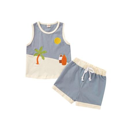 גופיה מצוירת לתינוק מכנסיים קצרים