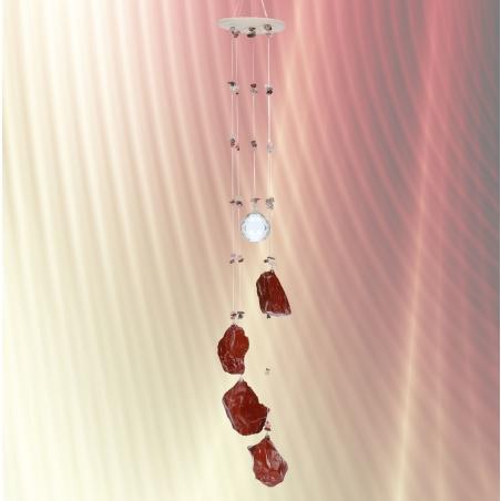 מובייל ספירלה משולב ג'אספר אדום גולמי  5 זרועות 65 ס