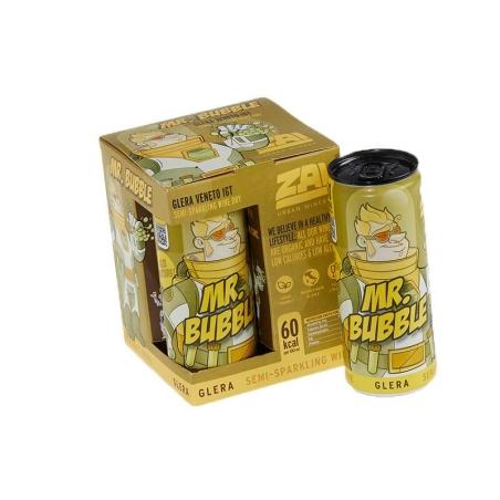 זאי - מיסטר באבל - לבן חצי מתוק - רביעיית פחיות 250 מ'ל