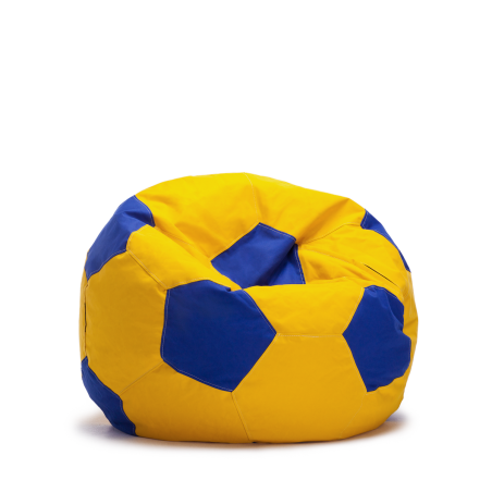 פוף כדורגל - צהוב כחול