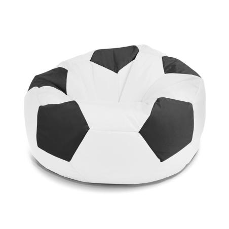 פוף כדורגל - שחור לבן