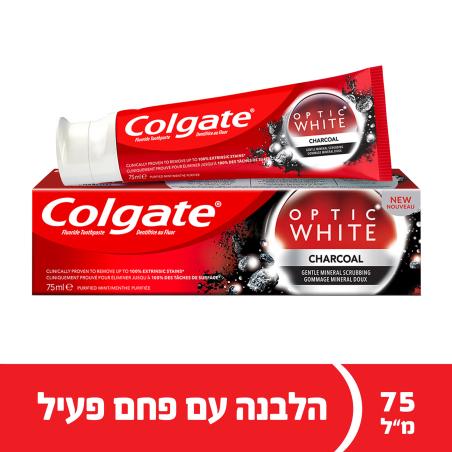 קולגייט אופטיק וייט משחת שיניים עם פחם פעיל  75 מ'ל