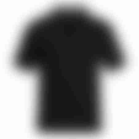 פולו קצר טקסטורה 2 - שחור