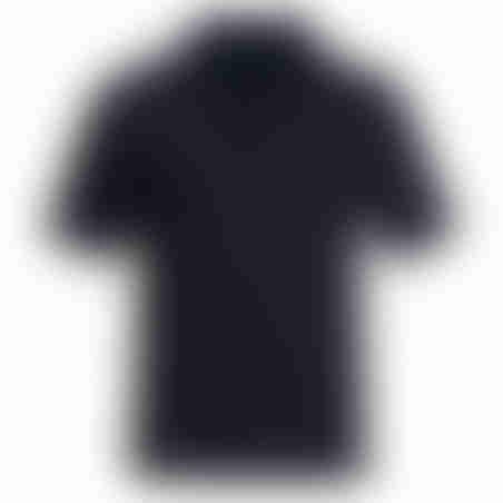 פולו קצר טקסטורה 4- שחור