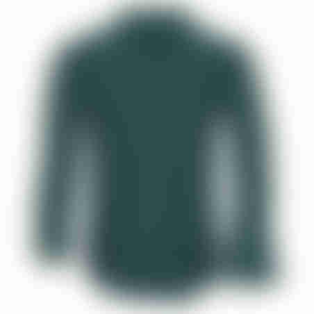 חולצת כפתורים כותנה / לייקרה -  ירוק