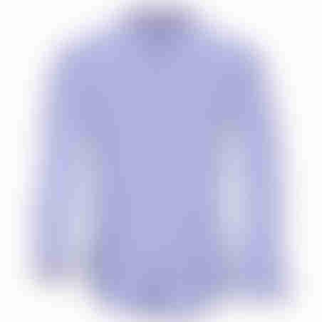 חולצת כפתורים משבצות - תכלת 2
