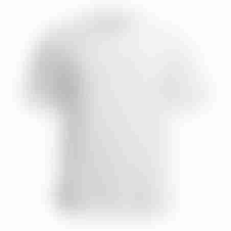 טישרט תבליט JEANS - לבן/לבן