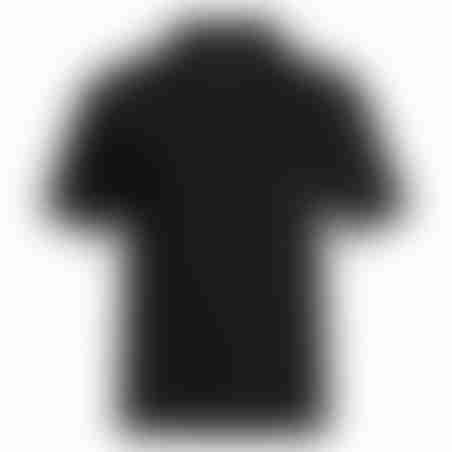 פולו קצר צווארון פסים - שחור