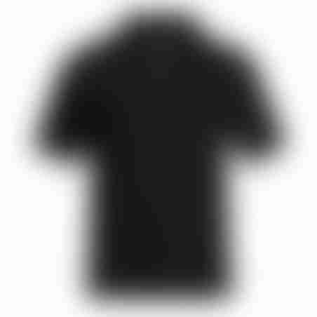 פולו קצר רוכסן - שחור