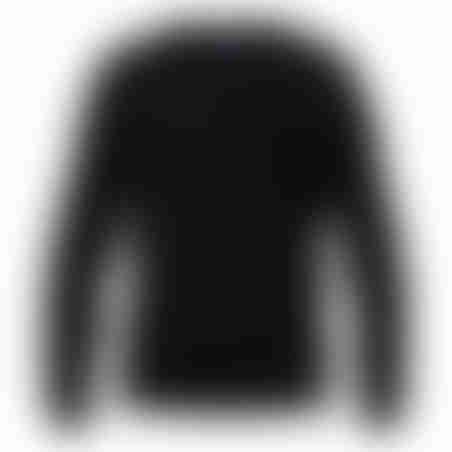 סריג V-Neck Cashmere Embroidery - שחור