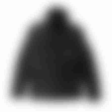 מעיל צווארון ריב נשלף - שחור