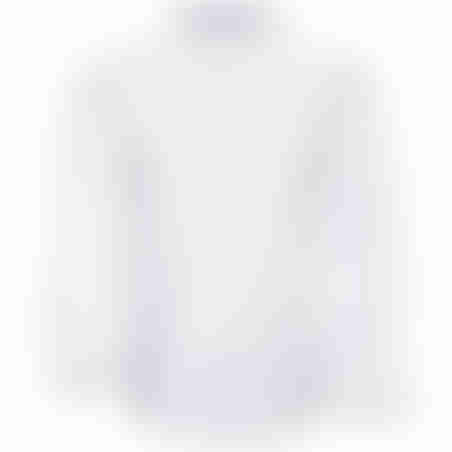 חולצת כפתורים כותנה גימור סטן  - לבן