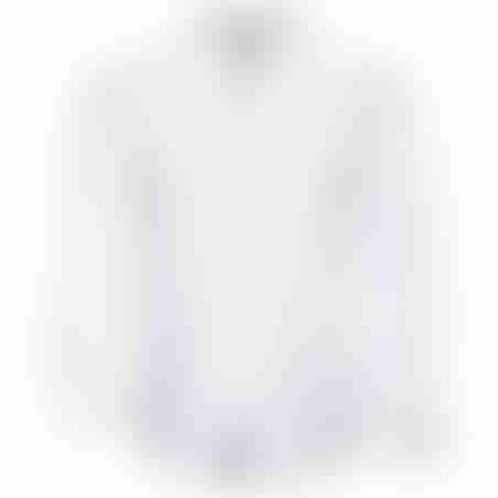 חולצת כפתורים משבצות בצווארון - לבן