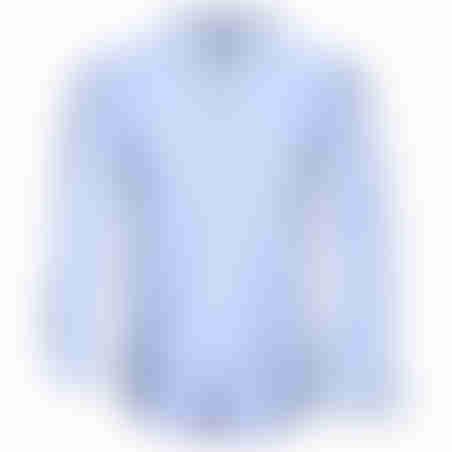חולצת כפתורים משבצות בצווארון -תכלת