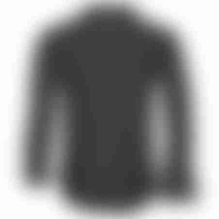 חולצת כפתורים נקודות - שחור