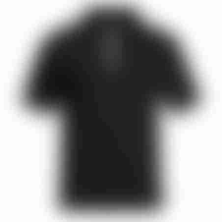 פולו קצר רוכסן - שחור - רוכסן לבן