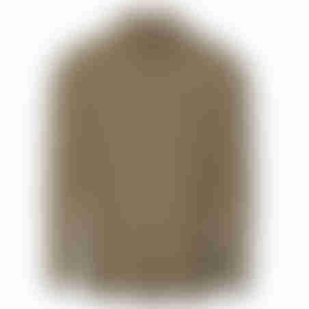 סווטשרט פולו עם משבצת בצווארון - כאמל