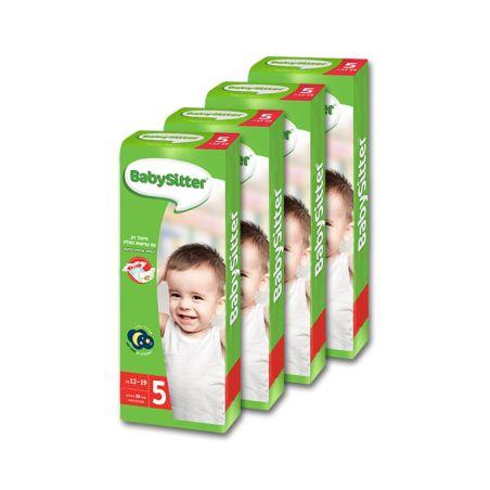 4 חבילות חיתולי BabySitter מידה 5