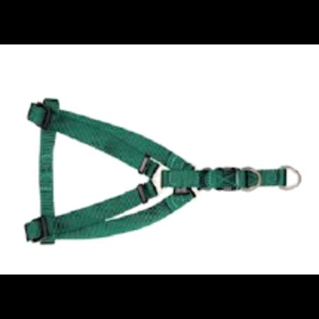 קולר ניילון לכלב  צבע ירוק - מידה M