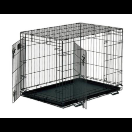 כלוב רשת לכלב שתי דלתות  36.75*23.25*24.75