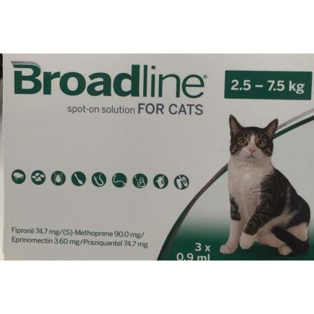 כדורים נגד פרעושים וקרציות לחתולים במשקל 2.5 - 7.5 ק
