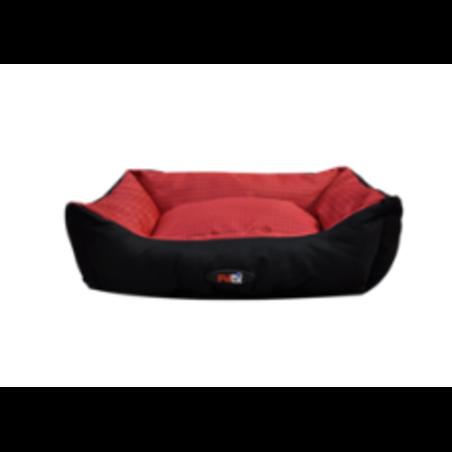 מיטת כלב/ה משובצת בצבע אדום ושחור - מידה: 20*50*60